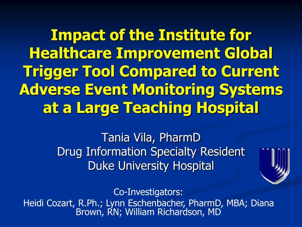 tania vila pharmd drug information specialty resident duke university hospital l.