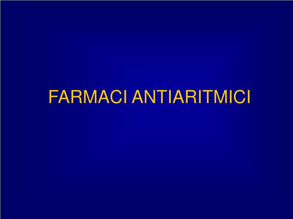 farmaci antiaritmici l.