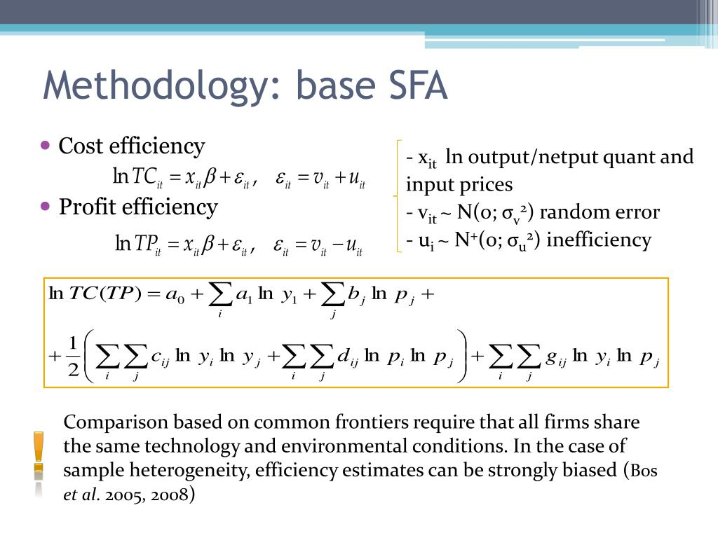 Methodology: base SFA