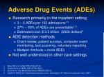 adverse drug events ades