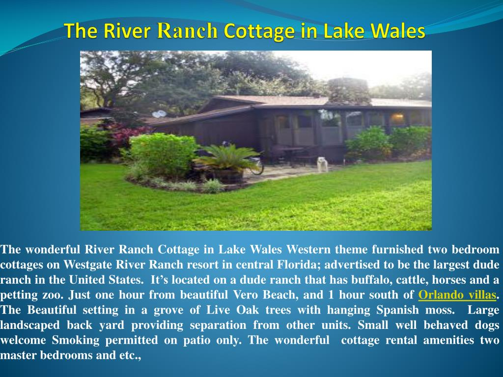 the river ranch cottage in lake wales l.