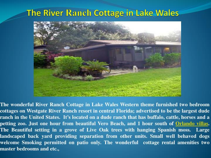 the river ranch cottage in lake wales n.