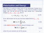 polarization and energy