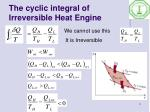 the cyclic integral of irreversible heat engine