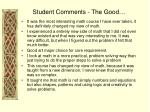 student comments the good