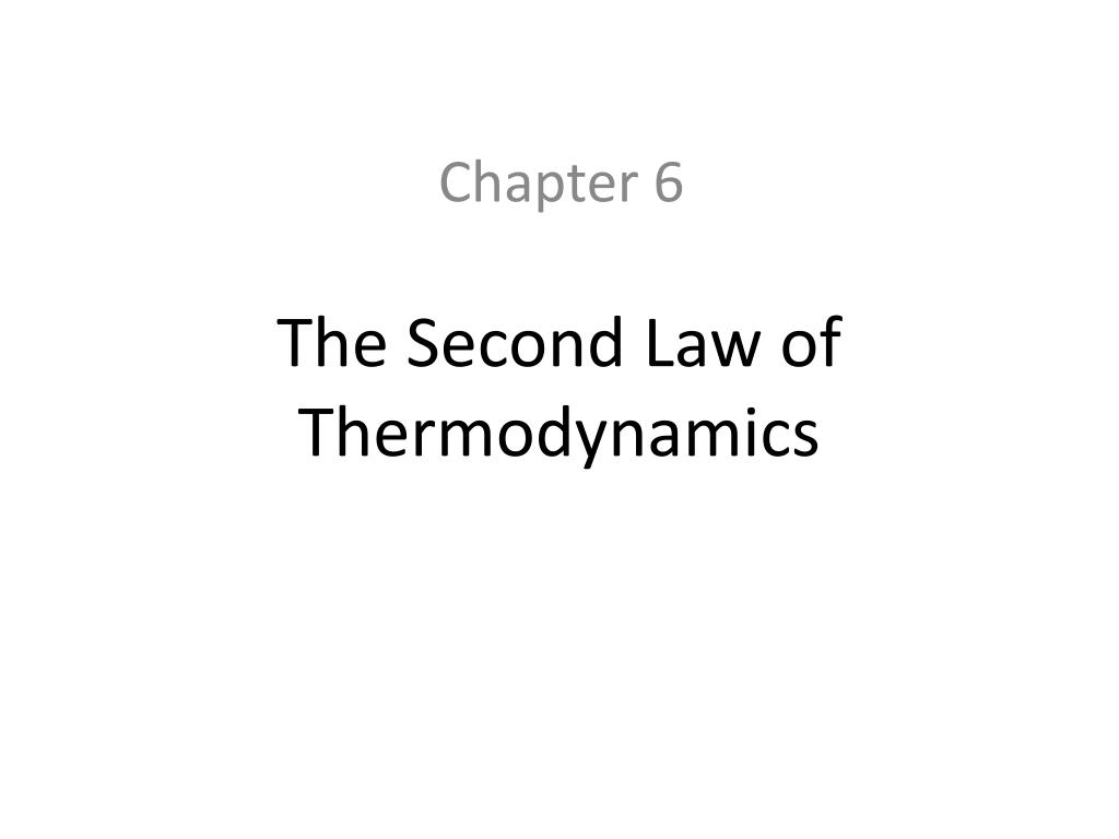 the second law of thermodynamics l.