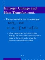entropy change and heat transfer cont
