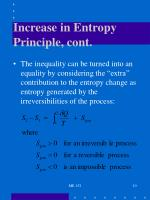 increase in entropy principle cont