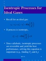 isentropic processes for ideal gases