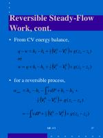 reversible steady flow work cont