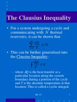the clausius inequality