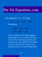 the tds equations cont