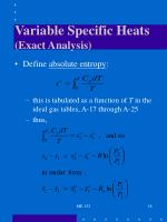 variable specific heats exact analysis