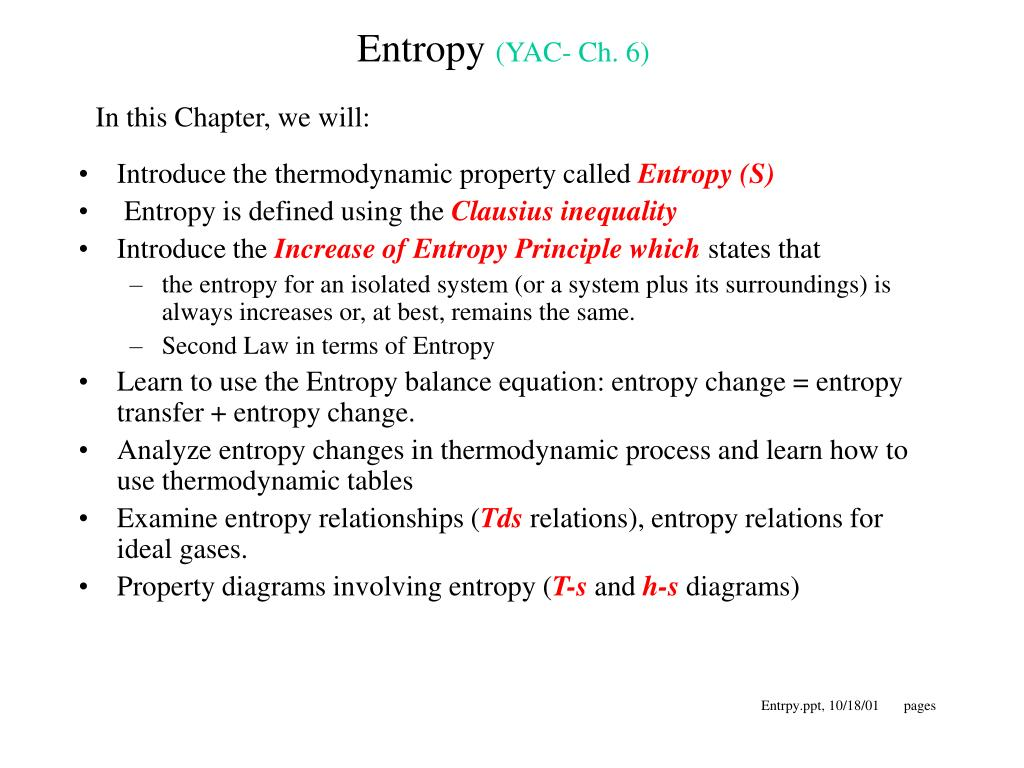 entropy yac ch 6 l.