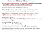 second law entropy balance yac ch 6 4