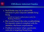 offshore internet banks