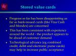 stored value cards
