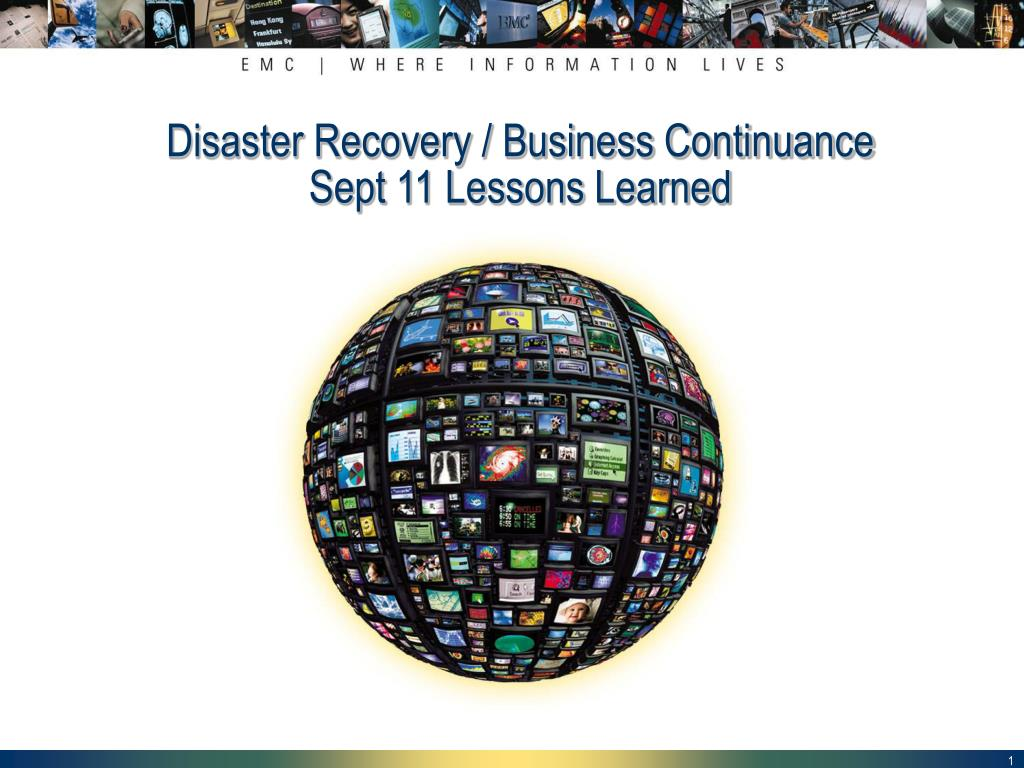 disaster recovery business continuance sept 11 lessons learned l.