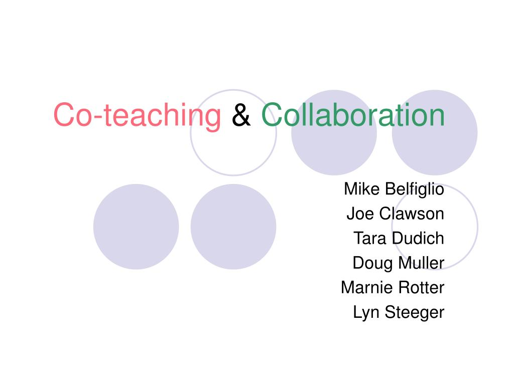 co teaching collaboration l.