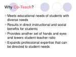 why co teach