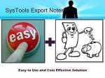 systools export notes7