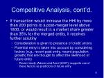competitive analysis cont d15