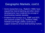 geographic markets cont d10