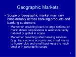 geographic markets