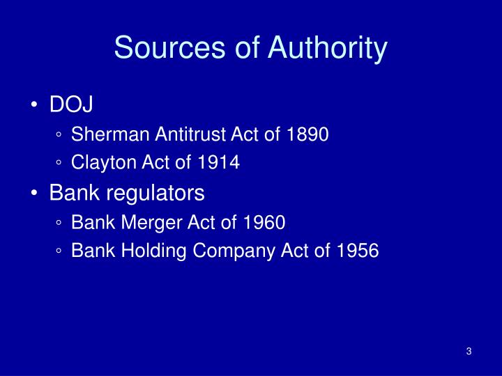 Sources of authority