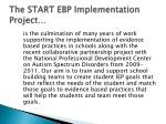 the start ebp implementation project