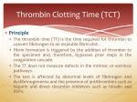 thrombin clotting time tct