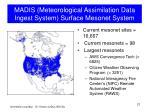 madis meteorological assimilation data ingest system surface mesonet system