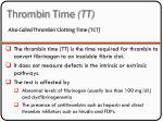 thrombin time tt