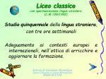 liceo classico con sperimentazione lingua straniera c m 198 19928