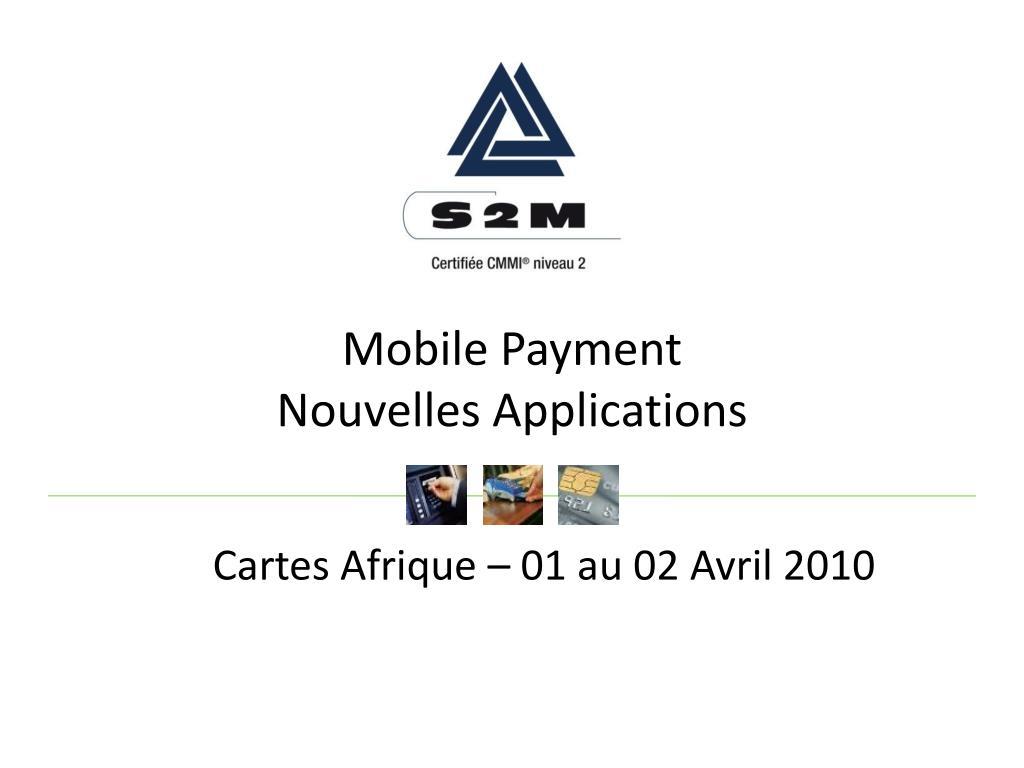 mobile payment nouvelles applications l.