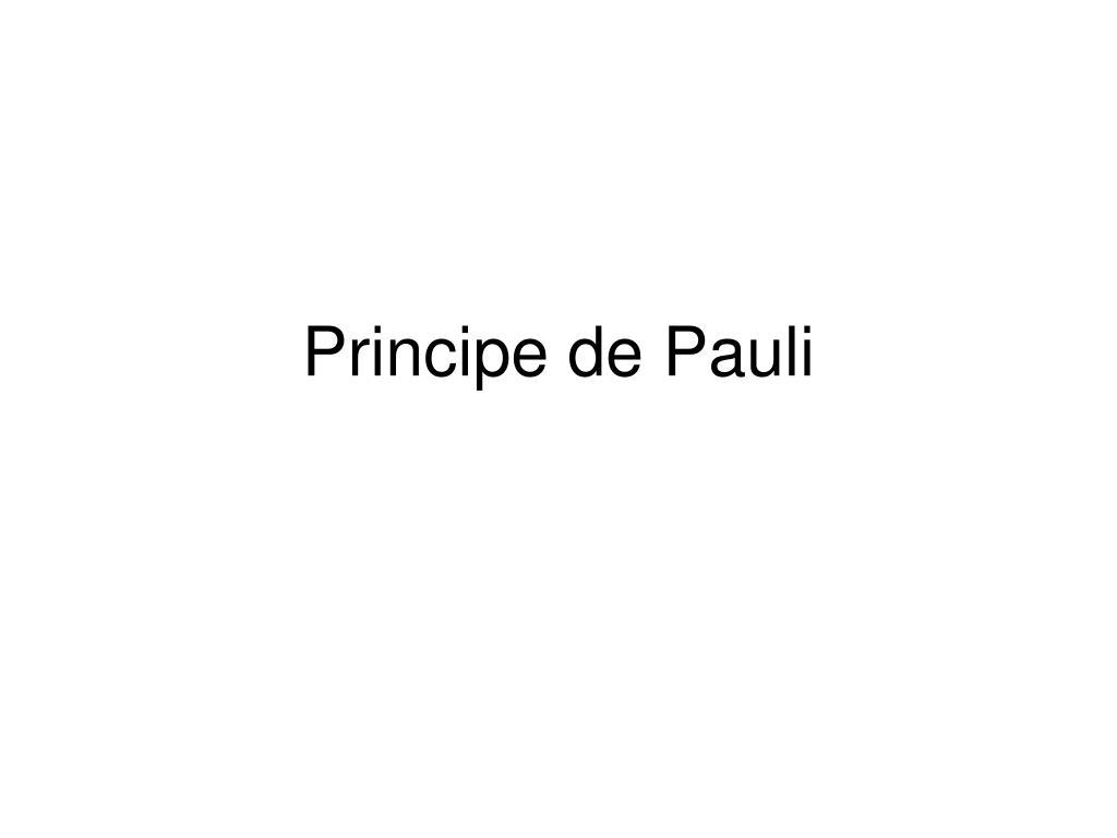 principe de pauli l.