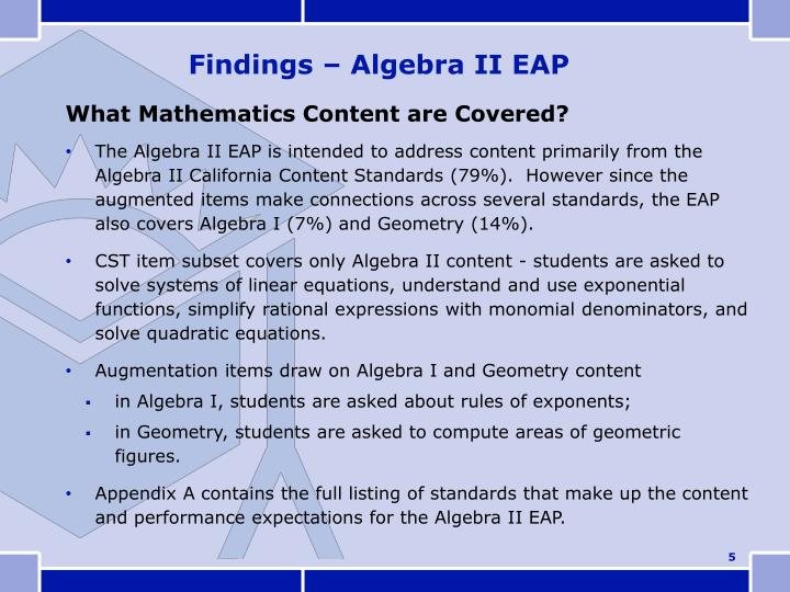 What Mathematics Content are Covered?