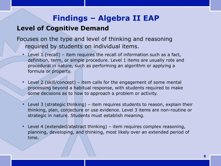 Level of Cognitive Demand