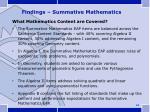 findings summative mathematics