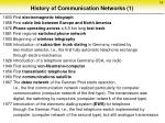 history of communication networks 1