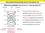 information theoretically secure encryption 4