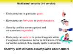 multilateral security 3rd version
