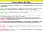 protection goals definitions
