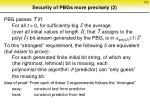 security of pbgs more precisely 2