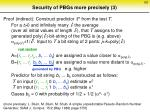 security of pbgs more precisely 3