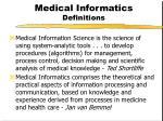 medical informatics definitions