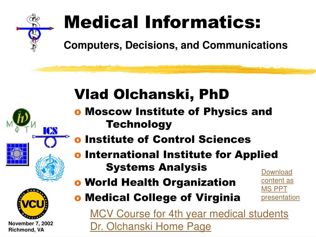 medical informatics l.