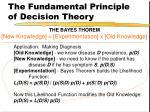 the fundamental principle of decision theory