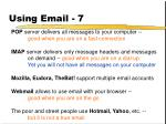 using email 7