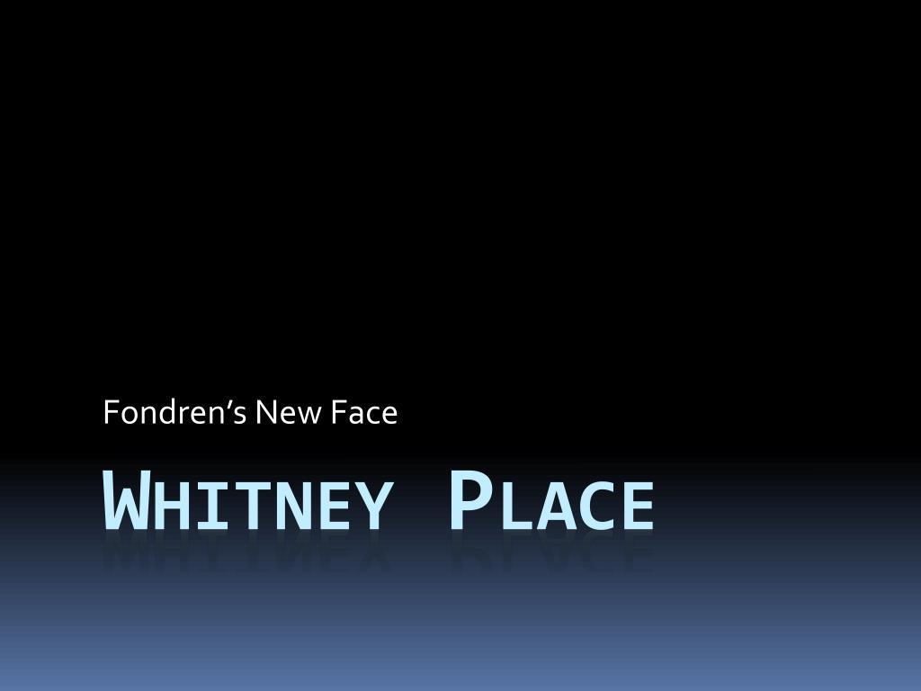 Fondren's New Face